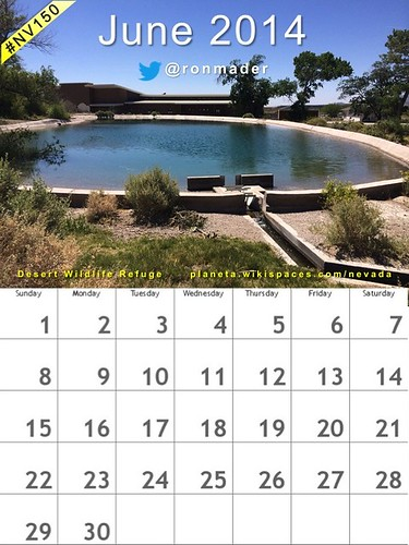 Free! June 2014 Calendar: Desert National Wildlife Refuge (Attribution-ShareAlike license) @USFWSHQ @TravelNevada #nv150