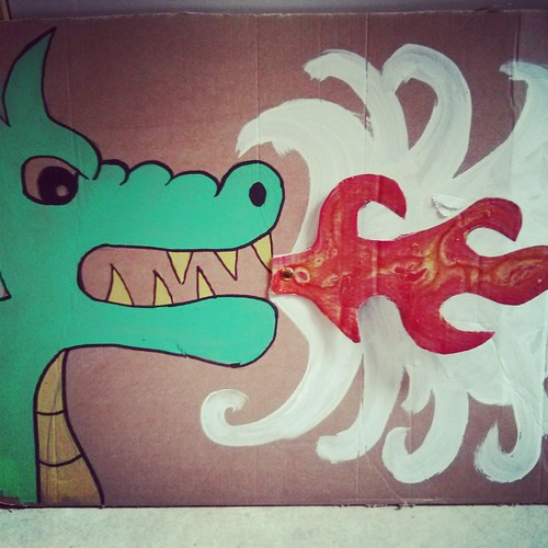 pin the fire on the dragon