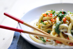 Squid noodle with coconutcream