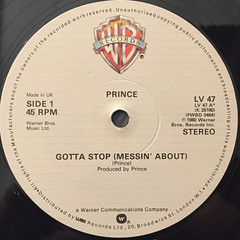 PRINCE:GOTTA STOP(MESSIN' ABOUT)(LABEL SIDE-A)
