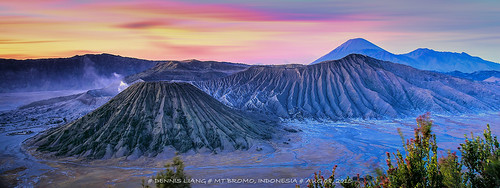 sunrise indonesia volcano java ash bromo