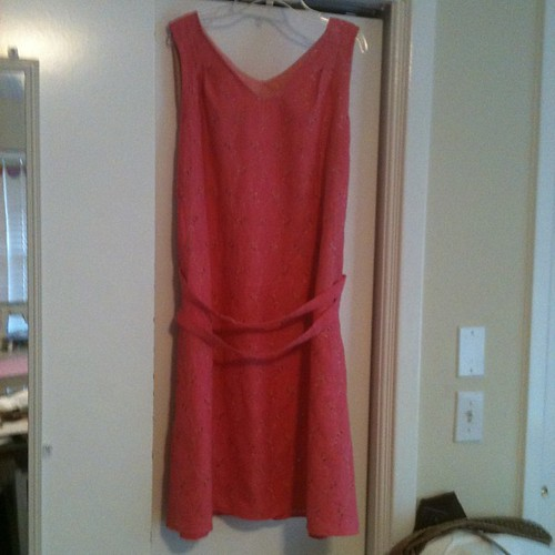 #simplicity 1810 Coral linen blend eyelet - it's much cuter on than in the picture!