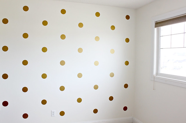 Marvelous Gold Polka Dot Walls