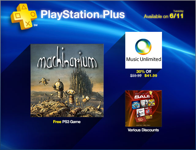 PlayStation Plus Update 6-11-2013