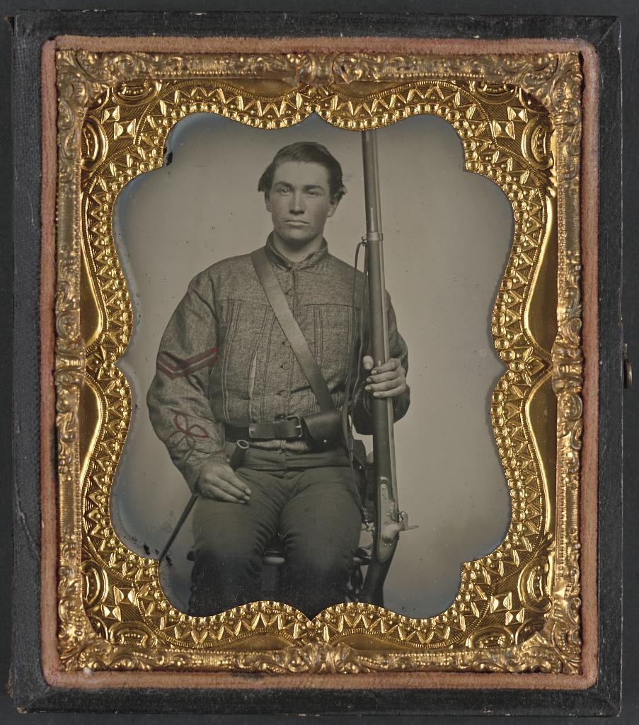 [William Jenkins, North Carolina soldier, in artillery uni… | Flickr