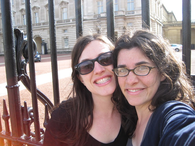 sisters at Buckingham Palace