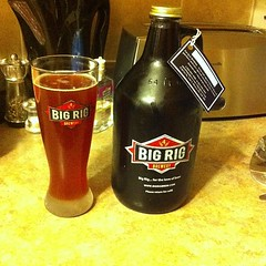 So good I had to bring home a growler. Raspberry Ale #bigrigbrew #beer #beerporn