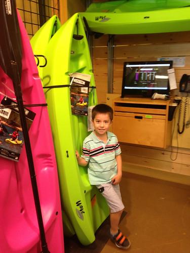 Scott got a kids kayak today