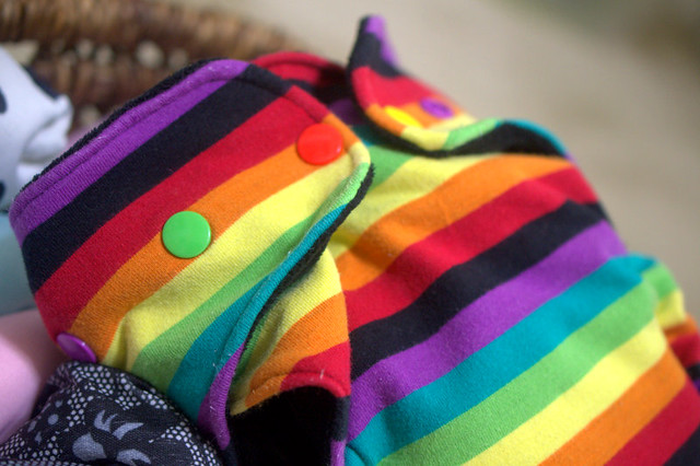 Rainbow cloth diaper