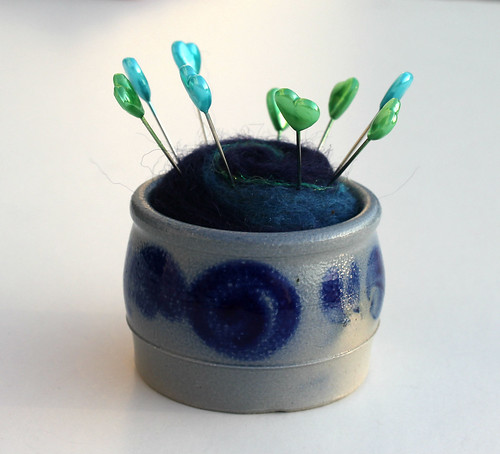Blue Crock by Barbara Weiss