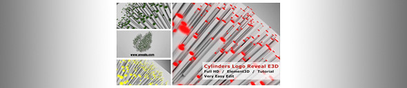 Cylinders Logo Reveal - Preview Image - banner