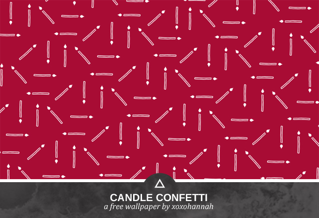 Candle Confetti Desktop Background Preview in Maroon