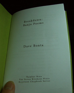cover page of proof for Breakdown: Banjo Poems