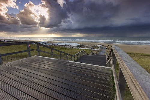 Thunderstorm approaching Beach Resort