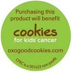OXO Cookies for Kids' Cancer Sticker