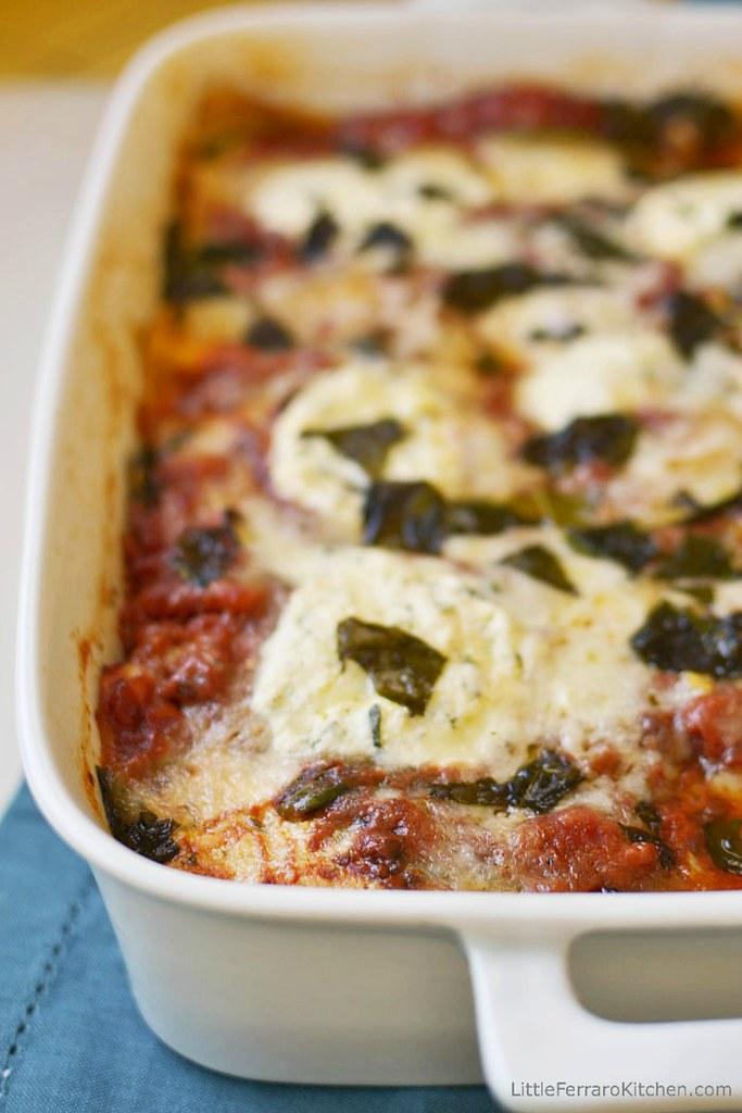 Spinach and Zucchini Lasagna {Virtual Potluck} via LittleFerraroKitchen.com