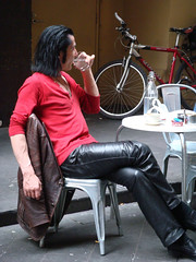 cool guy in leather