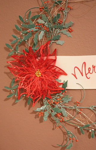 Close up of wreath flower