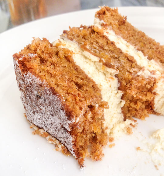 Carrot Cake with Lemon Ginger Mascarpone Icing