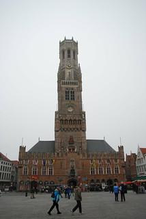 Image of Belfry near Brugge. tower belgium belltower belfry bruges belfort medievalbelltower