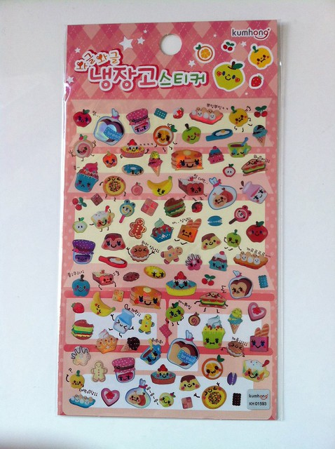 Food with faces stickers