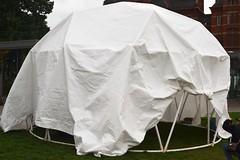 veil(0.0), umbrella(0.0), bridal veil(0.0), gown(0.0), clothing(0.0), mosquito net(0.0), dress(0.0), white(1.0), tent(1.0),