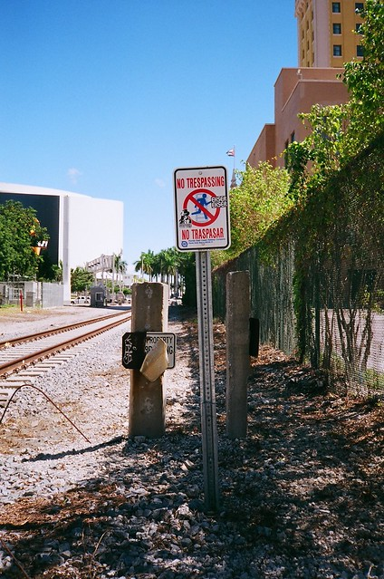 Florida East Coast Railway No Tresspassing Sign