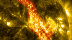 Filament Eruption Creates 'Canyon of Fire' on the Sun