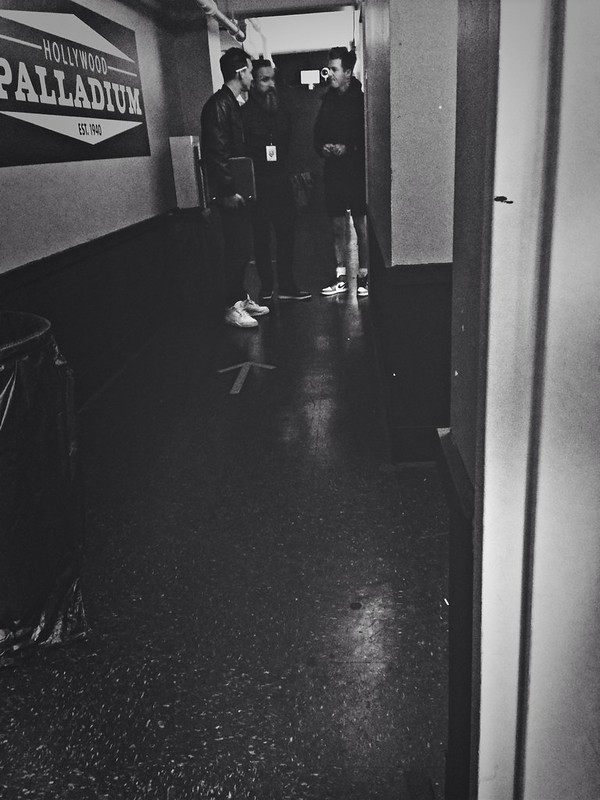 jesse rutherford backstage at Hollywood Palladium