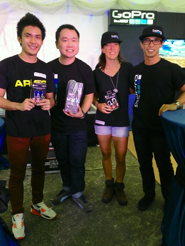 GoPro contest winners- Anthony Roman, Tamara Benitez, and Brent Co
