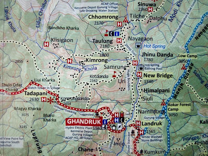 Ghandruk to Chhomrong