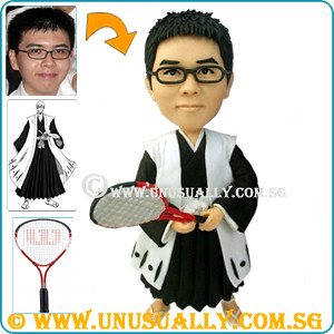 Unusually Fully Personalized 3D Kongfu Tennis Figurine - @www.unusually.com.sg