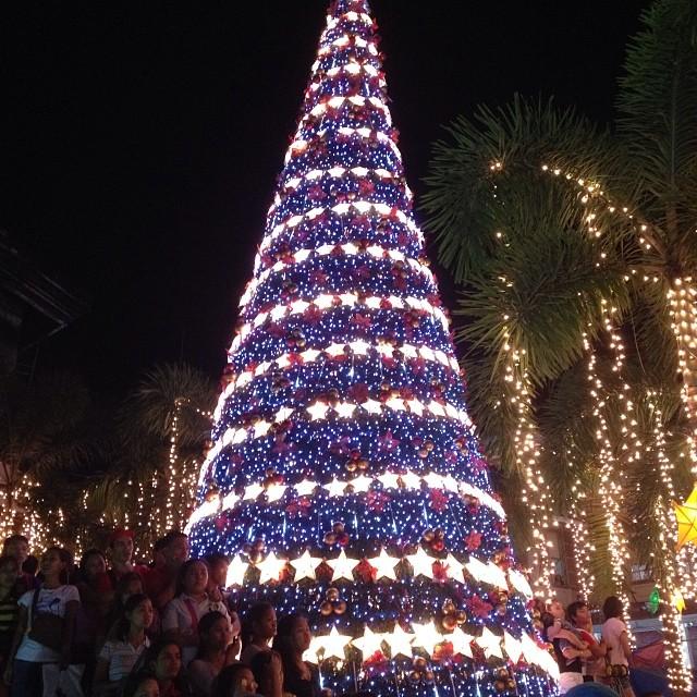 The Christmas Tree Lighting event in Bonifacio Shrine Tutuban