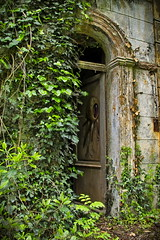 Abandoned Doorway with Graffity