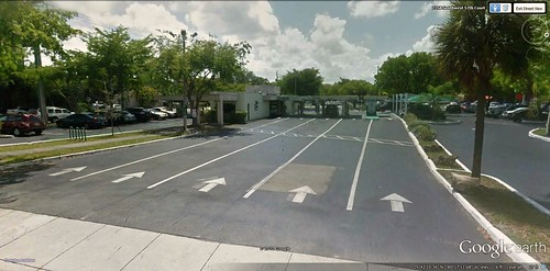 5-lane ATM, South Miami (via Google Earth)