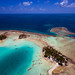 Kite aerial photo at the Blue Lagoon Rangiroa by Pierre Lesage