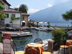 View from a Cafe on the Shore of Lake Garda