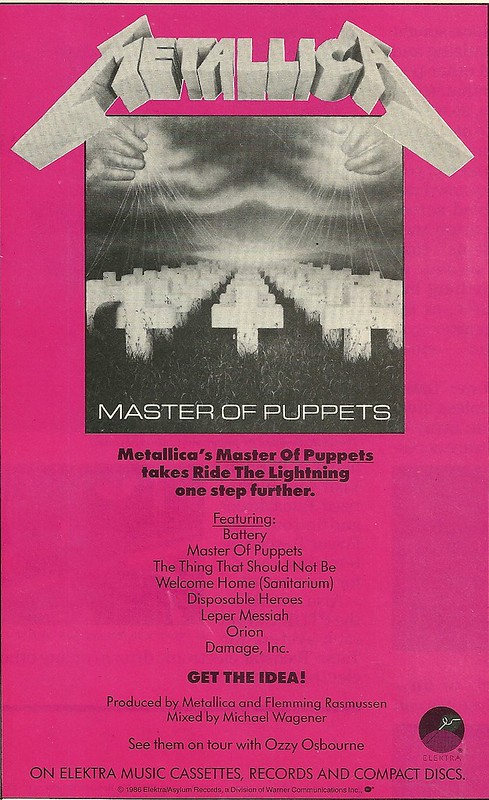 "Metallica ""Master Of Puppets"" (Released: 02/24/86)"