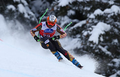 Hudec in action during the downhill in Bormio, ITA