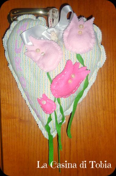 Fiocco nascita  bebè, rosa