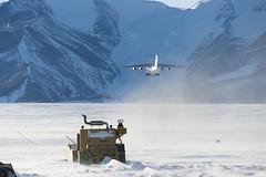 No runway here.  Antarctica.