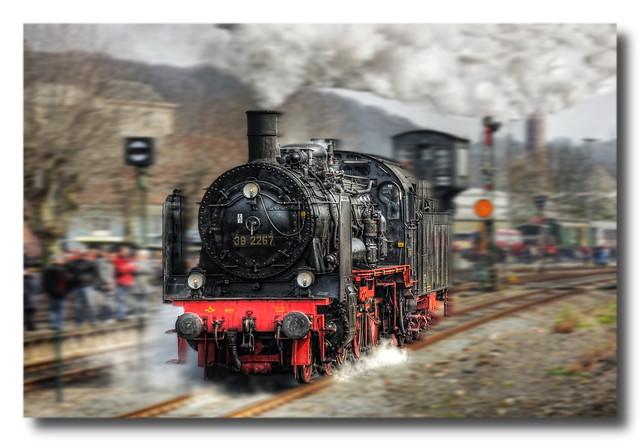 Bochum - Eisenbahnmuseum Dahlhausen Preußische P 8 38 2267 Baujahr 1918 12