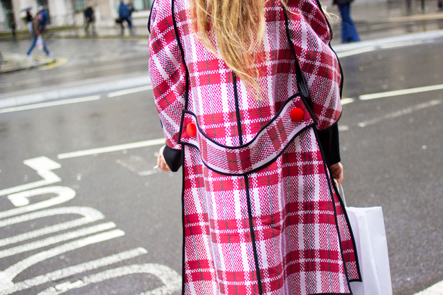 Celine coat street style London Fashion Week