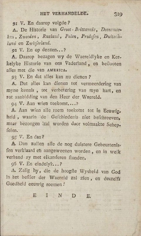 Page from Kort begrip der waereld-historie voor de jeugd