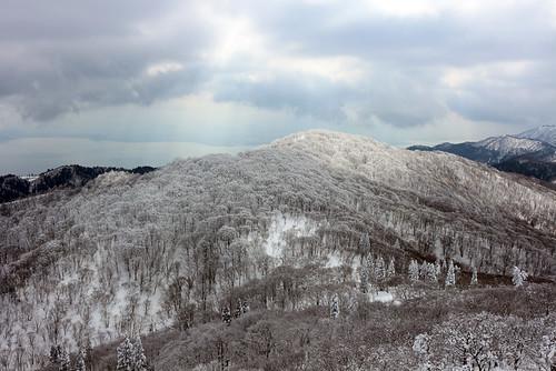 山頂から琵琶湖方面