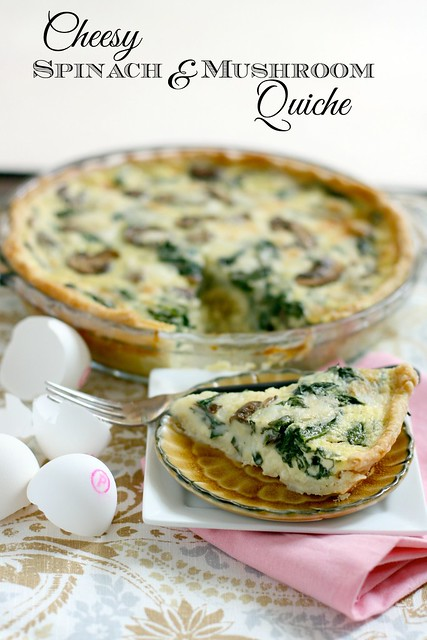 Cheese Spinach and Mushroom Quiche 4