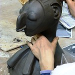 Ana working on Nimba mask