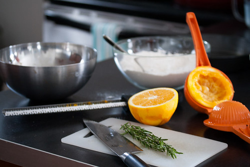 Making Rosemary-Orange Cake