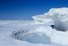Lake Huron ice and snow by maureen.elliott