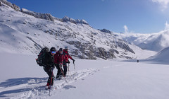 Super zjazd lodowcem  Oberaargletscher.